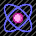 atom, biology, dna, genetic, genome, hospital, medical icon