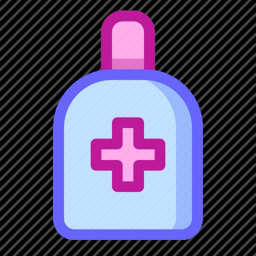 alcohol, antiseptic, healing, medical, medicine, pharmacy, treatment icon