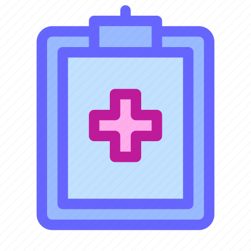 clipboard, health, medical, notepad, notes, prescription, receipt icon