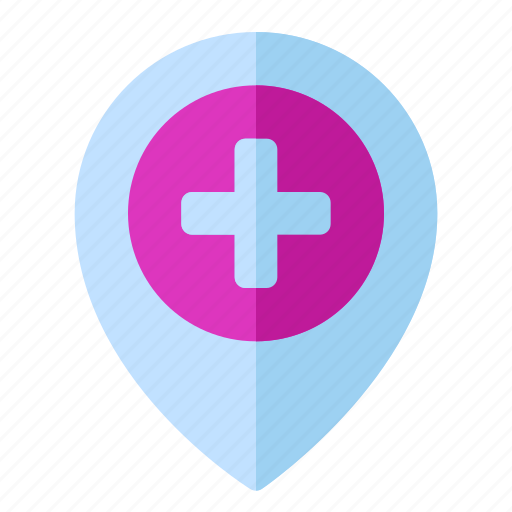 Health, hospital, location, map, medical, pin icon - Download on Iconfinder