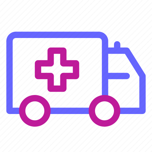 ambulance, emergency, health, hospital, medical, transportation icon
