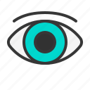 eye, health, hospital, medical, medicine, sight icon