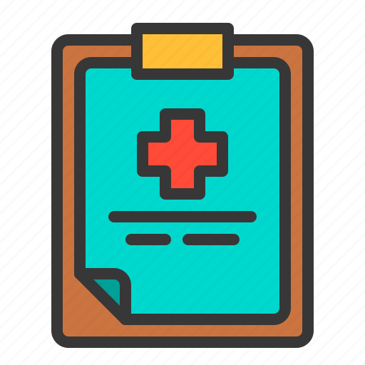 clipboard, diagnosis, document, health, hospital, medical, patient icon