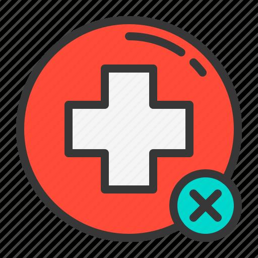 cancel, health, hospital, medical, medicine, wrong icon
