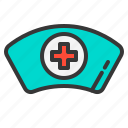 doctor, hat, health, hospital, medical, medicine, nurse icon