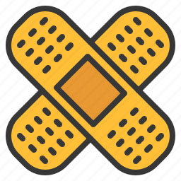 aid, band, bandage, health, medical, patch, recovery icon