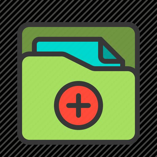 document, folder, health, hospital, medical, medicine icon