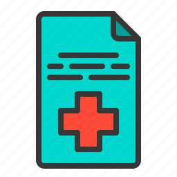 document, health, hospital, medical, medicine, paper icon