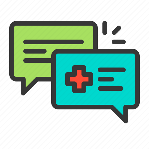 Doctor, medical, conversation, consultation, health, diagnosis icon