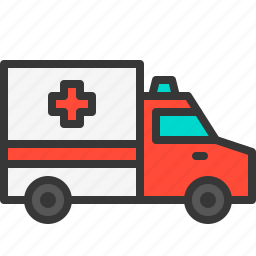 ambulance, car, emergency, health, hospital, medical, medicine icon