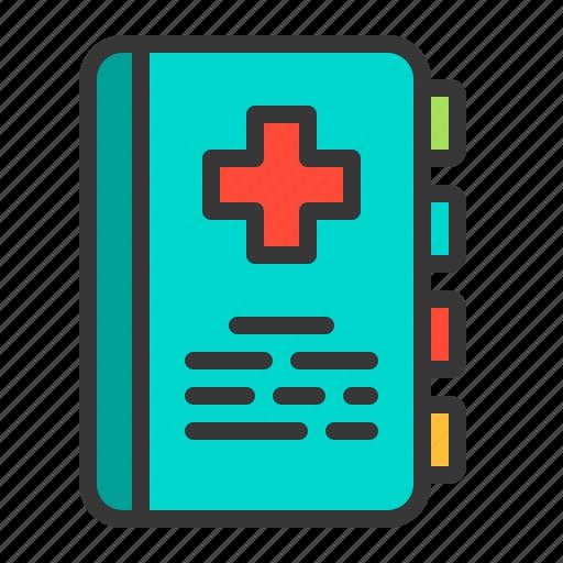 Hospital, health, medicine, folder, document, medical icon