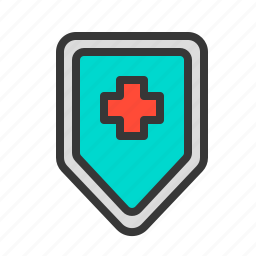 health, hospital, medical, medicine, protection, shield icon