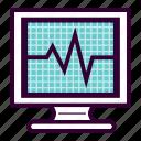 apparatus, ecg, ecg machine, electrocardiogram, monitor icon