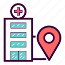 address, building, clinic, hospital, house, location icon