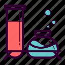 apparatus, drug, medicine, pharmacy, test tube icon