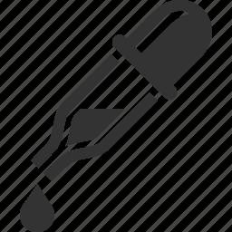 dropper, healthcare, laboratory, pipette icon