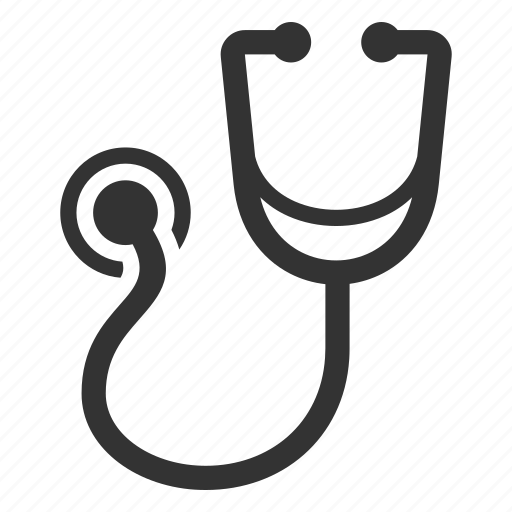 diagnosis, medical care, stethoscope icon