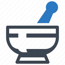 healthcare, mortar and pestle, pharmacy icon