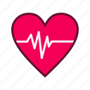 heart beat, heart rate, medical, pulse rate icon