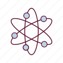 atom, chain, dna, genetics icon