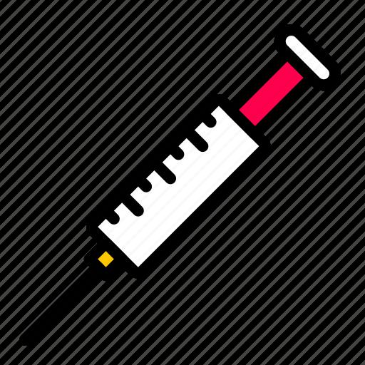 injection, medical, syringe, vaccine icon