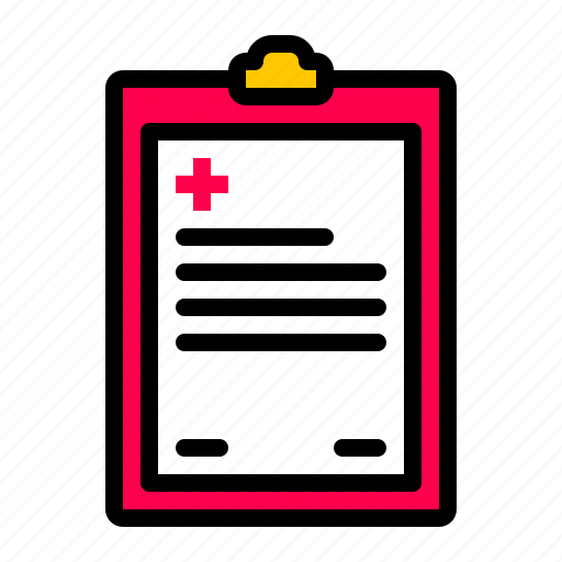 healthcare, medical, report icon