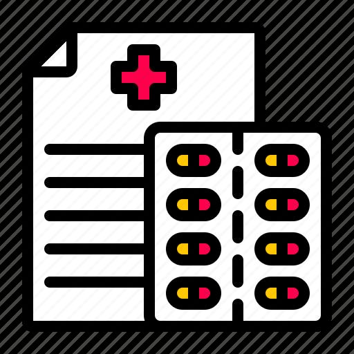medical, pharmacy, prescription icon