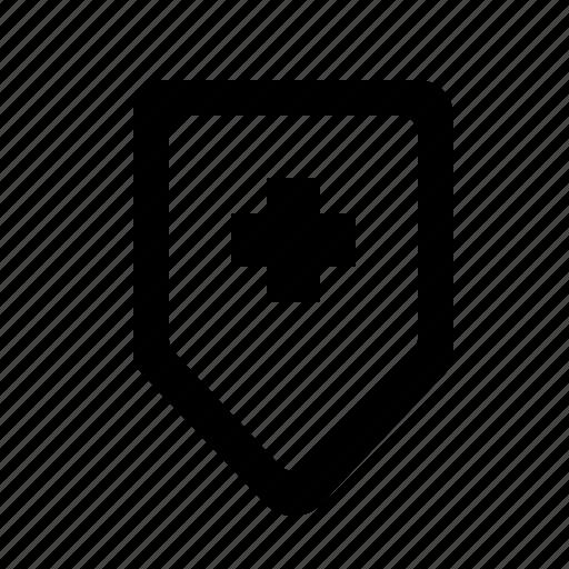 health, hospital, medical, medicine, protection, shield, treatment icon