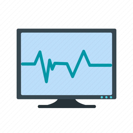 ecg monitor, heart beat, pulse rate icon