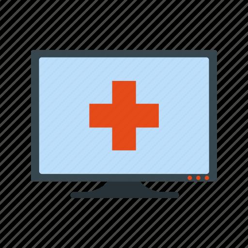 healthcare, online medical help icon