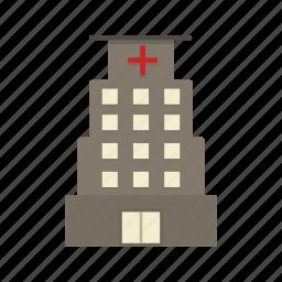 clinic, hospital, hospital building, medical icon