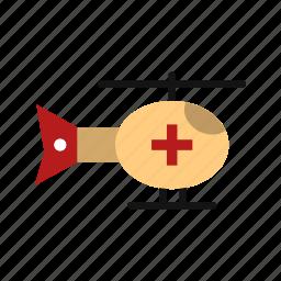 ambulance, emergency helicopter, helicopter icon