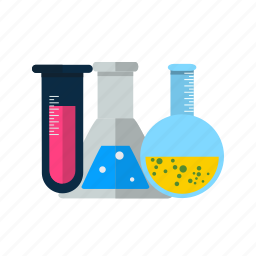 flask, lab, test tubes icon