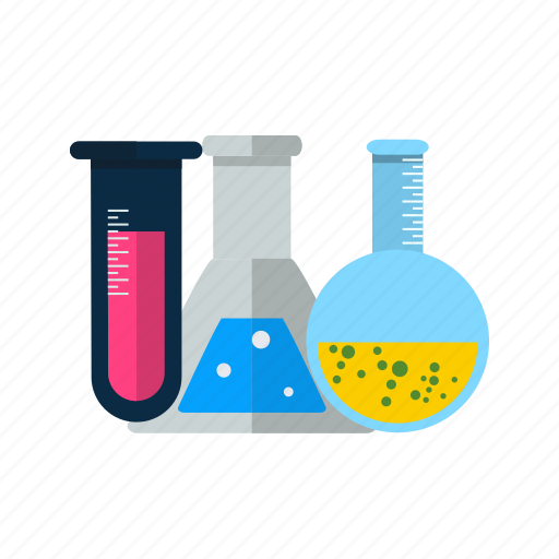 experiment, flask, laboratory, test, tubes icon