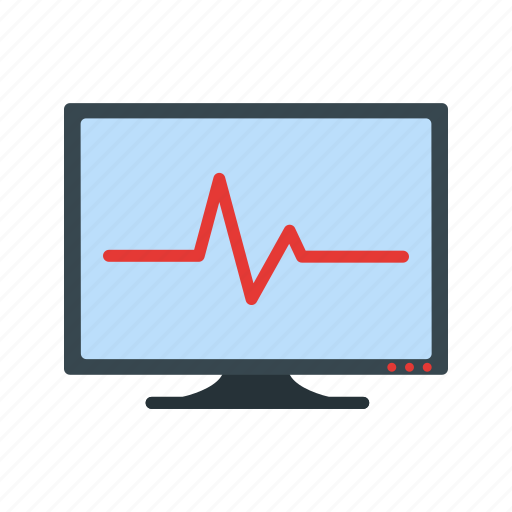 ecg, electrocardiogram, heartbeat, pulsation, pulse, rate icon
