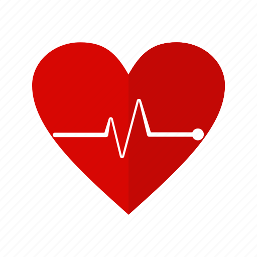 care, health, heart, heartbeat, pulsation, pulse, rate icon
