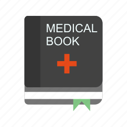 book, medical book, medical education icon