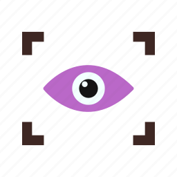 eyescanner, medical, safety, scan, scanner, secure, security icon