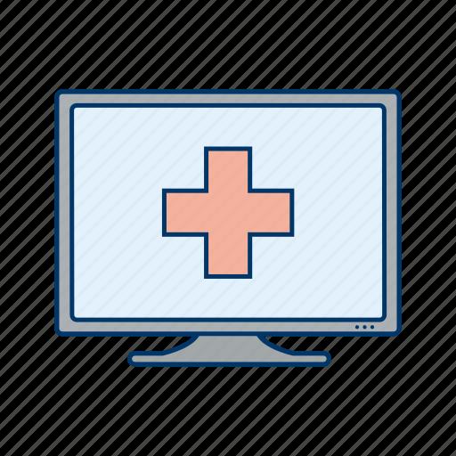 healthcare, medical, online medical, online medical help icon