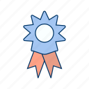 achievement, reward, ribbon, winner icon
