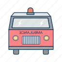 ambulance, emergency, treatment icon