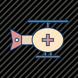 ambulance, chopper, emergence, helicopter, transportation icon