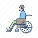 handicap, handicapped, wheel chair icon