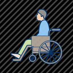 care, disable, handicap, handicapped, healthcare, patient, wheelchair icon