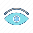 eye, find, magnifier, see, view, visible, vision icon