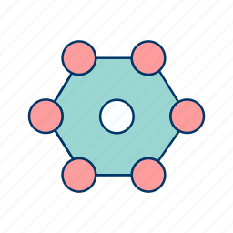 atoms, molecules, structure icon