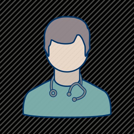 doctor, medical, stethoscope icon