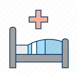 bed, care, clinic, emergency, healthcare, hospital, treatment icon