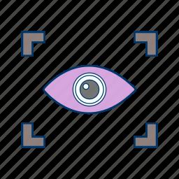 eye, eye scan, iris scan, scan icon