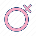 bisexual, female, gender, girl, lady, unisex, women icon